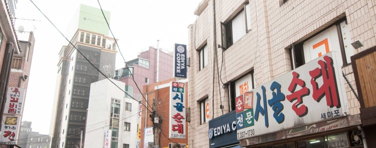 Side street where our hotel was located in Seoul, South Korea. Turn right, go down two blocks and you'll find the best Korean BBQ lamb in the known universe.